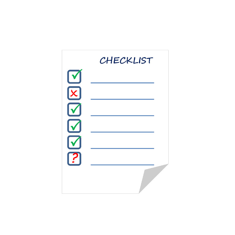 couverture checklist