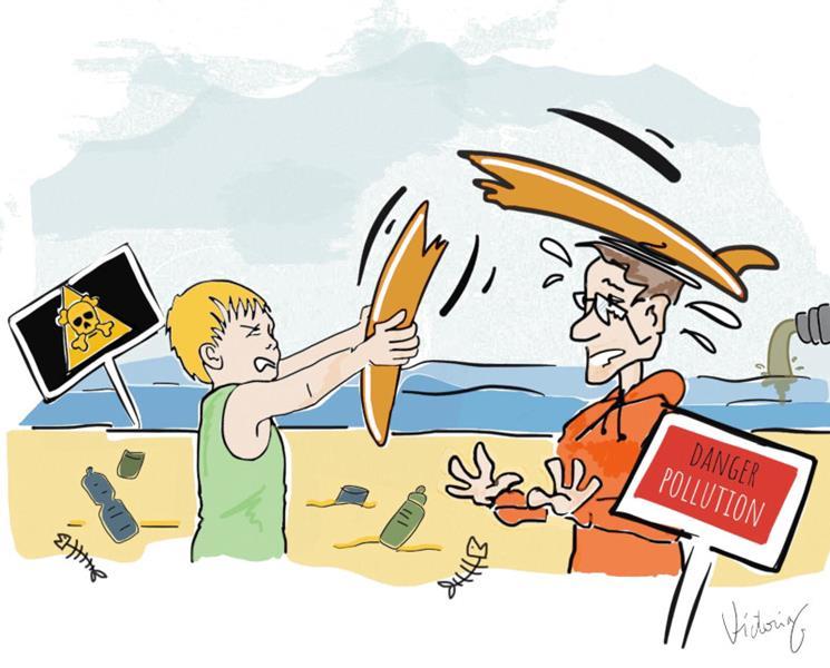 illustration enfant qui casse la gueule à son père