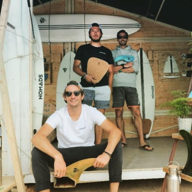 les 3 co-fondateurs de Nomads Surfing